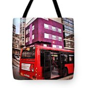 Bus Stop - La Coruna Tote Bag