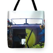 Bus With A 59 Cadillac On Top Tote Bag