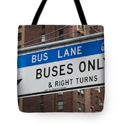 Buses Only I Tote Bag