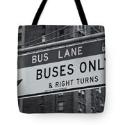 Buses Only II Tote Bag