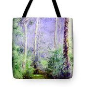 Bush Trail At The Afternoon Tote Bag