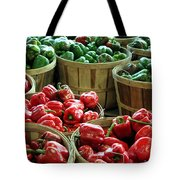 Bushels Of Green And Red Tote Bag