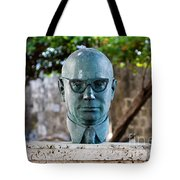 Bust Of Carlos Lleras Restrepo In Cartagena De Indias Colombia Tote Bag