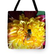 Busy Bee On Yellow Flower Tote Bag