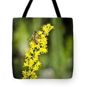 Busy Bee On Yellow Wildflower Tote Bag