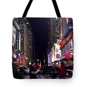 Busy Sidewalks Of The City Tote Bag