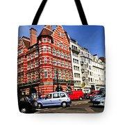 Busy Street Corner In London Tote Bag