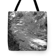 Butte Creek In Black And White Tote Bag