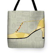 Butter Yellow Leather T Strap Heel Tote Bag