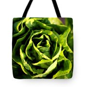 Buttercrunch Lettuce From Above Tote Bag