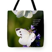 Butterflies - Cabbage White - Enjoyed The Togetherness Tote Bag