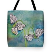 Butterflies Hanging Out Tote Bag