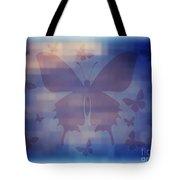 Butterflies In Blue Tote Bag