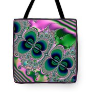Butterflies On Parade Fractal 123 Tote Bag