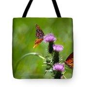 Butterflies On Thistles Tote Bag