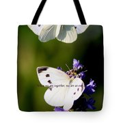 Butterfly - Cabbage White - As One Tote Bag