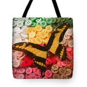 Butterfly And Buttons Tote Bag