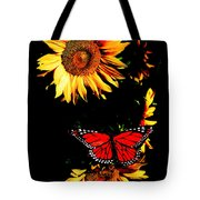 Butterfly And Sunflower Tote Bag