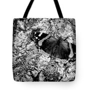Butterfly Bark Black And White Tote Bag