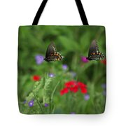 Butterfly Chase Tote Bag