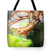 Butterfly Frosted Glass Tote Bag