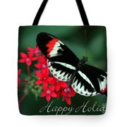 Butterfly Holiday Card Tote Bag