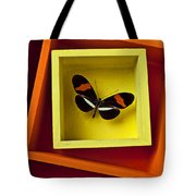 Butterfly In Box Tote Bag