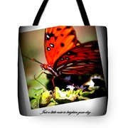 Butterfly Note Card Tote Bag