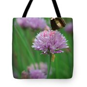 Butterfly On Clover Tote Bag