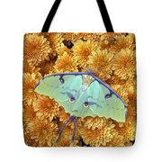 Butterfly On Flowers Tote Bag