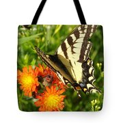 Butterfly On Orange Flowers Tote Bag