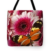 Butterfly On Pink Mum Tote Bag