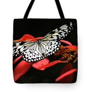 Butterfly On Red Tote Bag