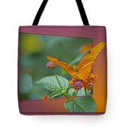 Butterfly Orange 16 By 20 Tote Bag