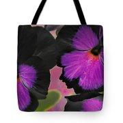 Butterfly Pansies Tote Bag