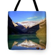 Butterfly Phenomenon At Lake Louise Tote Bag