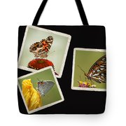 Butterfly Picture Page Collage Tote Bag