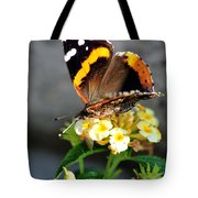 Butterfly Sipping Lantana Luscious Lemonade   Tote Bag