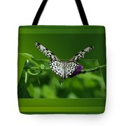 Butterfly White 16 By 20 Tote Bag