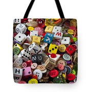 Buttons And Dice Tote Bag
