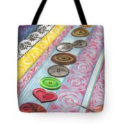 Buttons Down The Ages Tote Bag