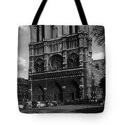 Vintage France Paris Notre Dame Cathedral 1970 Tote Bag
