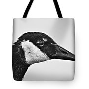 Bw Portrait-canadian Goose Tote Bag