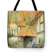 By The Cottage Door Tote Bag