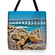 By The Pier Tote Bag by Betsy Knapp