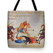 Byzantines Cavalrymen Pursuing The Rus Tote Bag