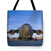 C-17 At Sunset Tote Bag
