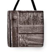 Cabin Door Bw Tote Bag