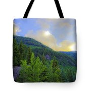 Cabin On The Mountain - Vail Tote Bag
