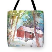 Cabine In The Troodos Mountains Tote Bag
